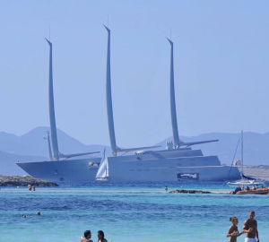 Sailing Yacht A Surprised Formentera's Visitors
