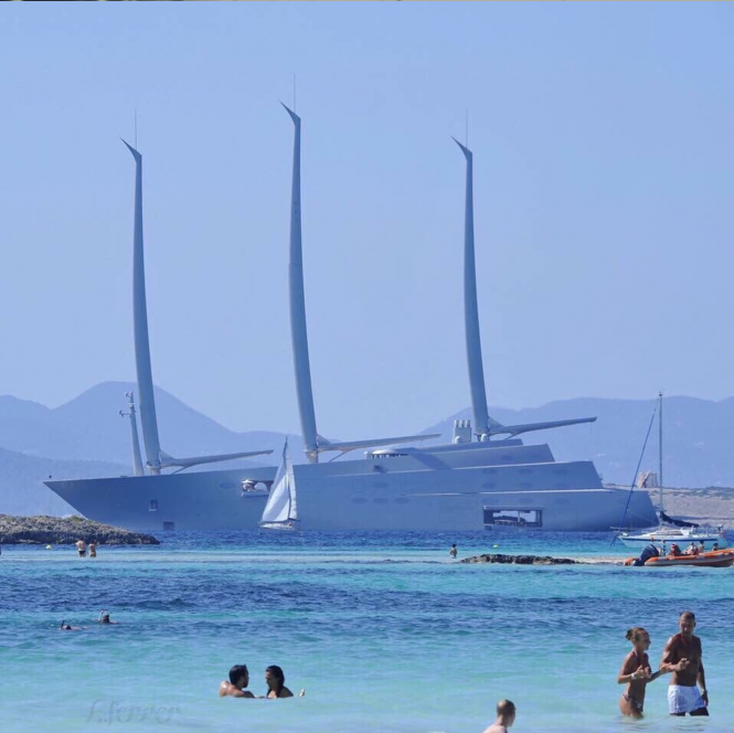 Sailing Yacht A. Photo by ortiz_aulisio Playa De Illetes, Formentera, Ibiza