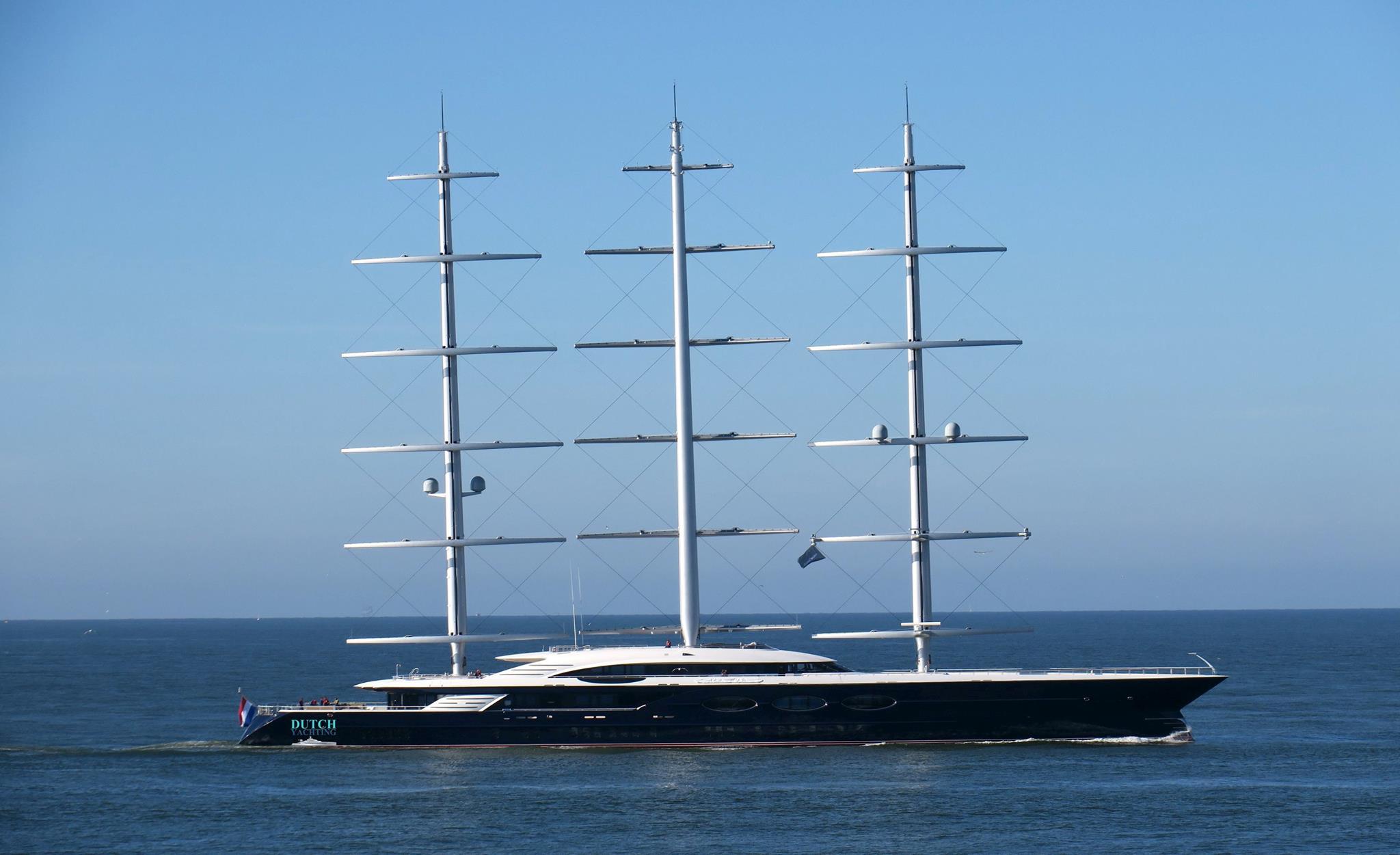 106m Sailing Yacht Black Pearl On Follow Up Sea Trials