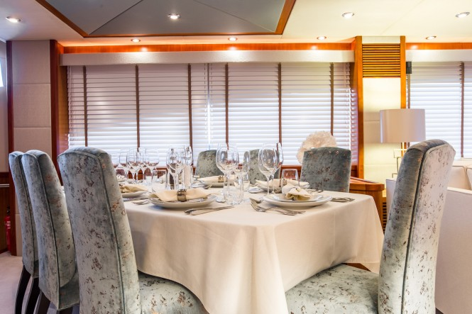Superyacht BIANCINO - Formal dining