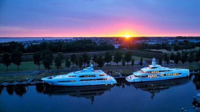 Superyachts BookEnds and Home. Photo credit Dick Holthuis