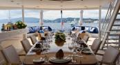 Superyacht INSIGNIA - Upper deck aft alfresco dining