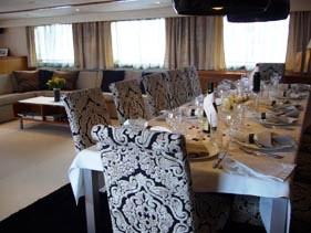 Superyacht SHAHA - Formal dining area