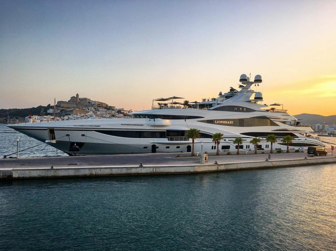 Superyacht Lionheart in Marina Ibiza. Photo credit marko.dudukovic