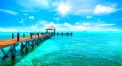 Exotic Paradise. Travel, Tourism and Vacations Concept. Tropical