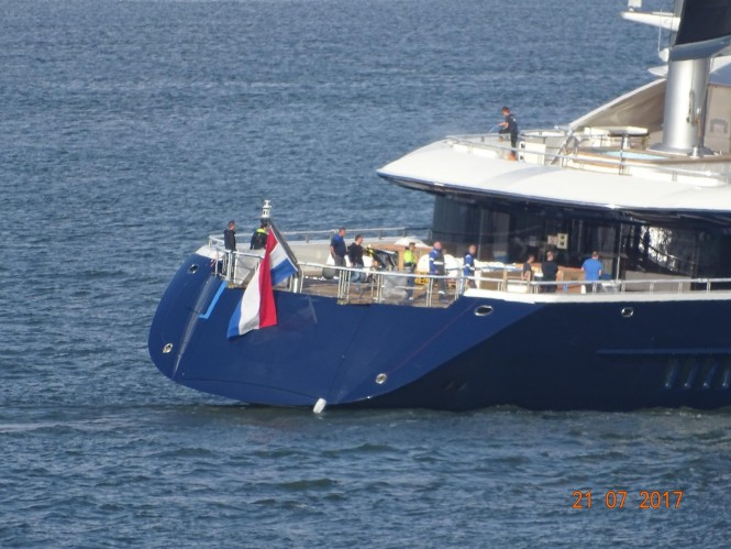 Aft view. Photo credit Marcus Slabbers via Dutch Yachting