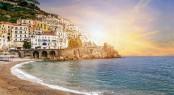 Amalfi-Coast-At-Sunset-Campania in the Mediterranean