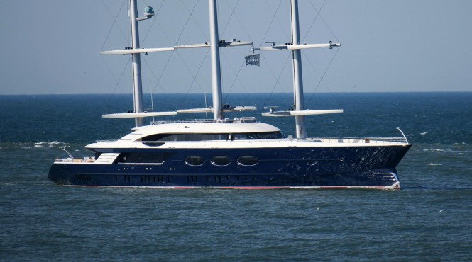 Black Pearl on Sea Trials. Photo Credit Dutch Yachting
