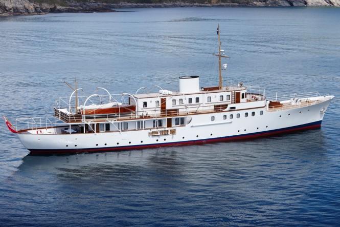 Classic motor yacht MALAHNE - Photo credit Pendennis Yachts