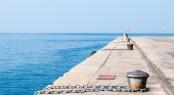 Empty Dock In The Harbor Of Trieste