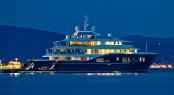 Luxury Yacht Blue Evening View