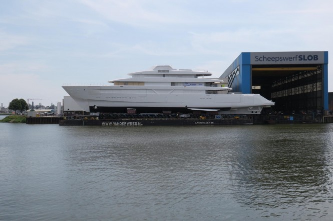 Feadship Hull #700. Photo credit Dutch Yachting