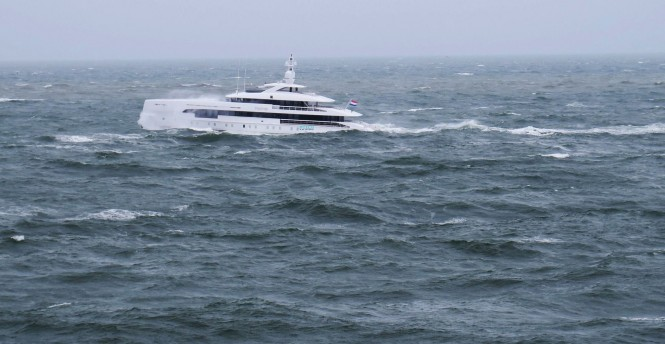 Superyacht Home in the North Sea. Photo: © Dutch Yachting