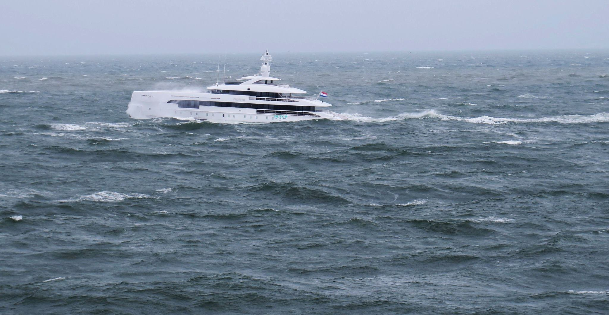 Superyacht Home in the North Sea