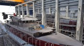 Hull 10228 under construction at the Baglietto shipyard