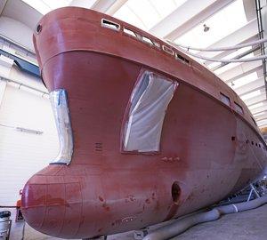 Construction progresses on light ice class superyacht K40 'Kanga'