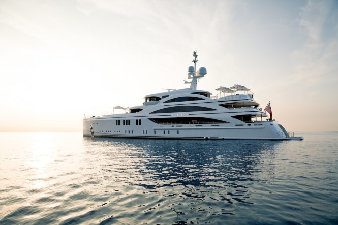 Luxury yacht 11.11 - Built by Benetti. Photo credit Jeff Brown