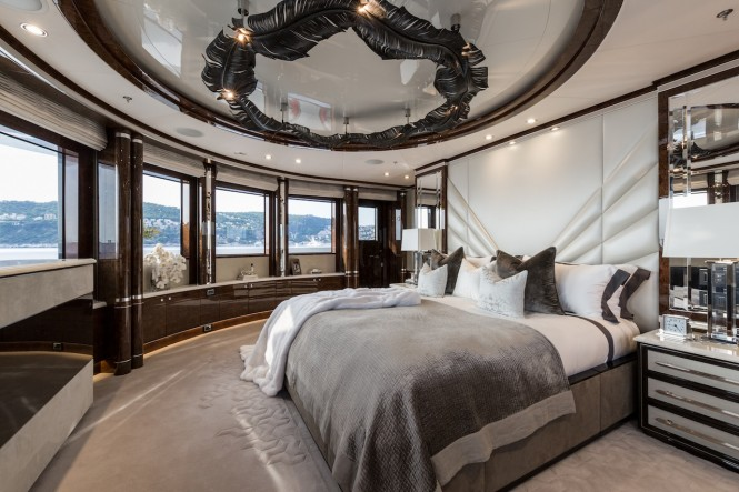 Luxury yacht 11.11 - Master suite. Photo credit Jeff Brown