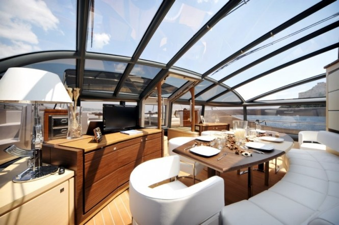 Luxury yacht ASTRO - Formal dining area