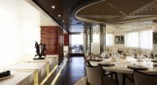 Luxury yacht E&E - Main salon and formal dining area