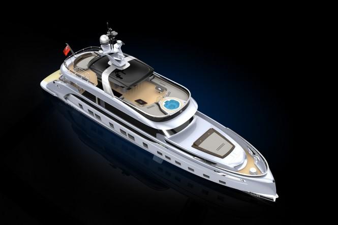 Luxury yacht GTT 115 - Currently under construction at the Dynamiq shipyard. Photo credit Dynamiq