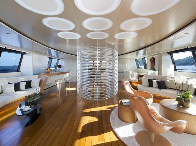 Luxury yacht PANTHALASSA - Main salon