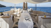 Luxury yacht PANTHALASSA - Massage table on the flybridge