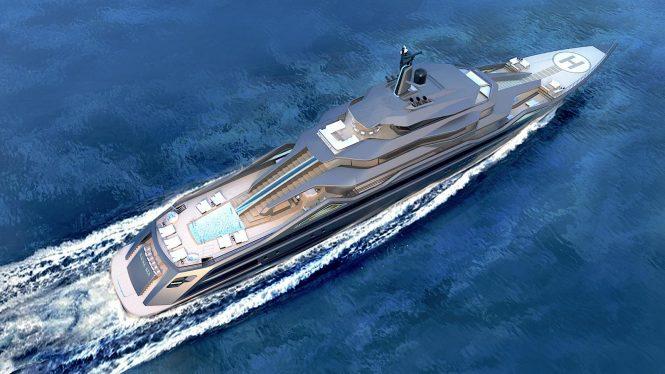 Luxury yacht concept MAUNA KEA by Roberto Curto