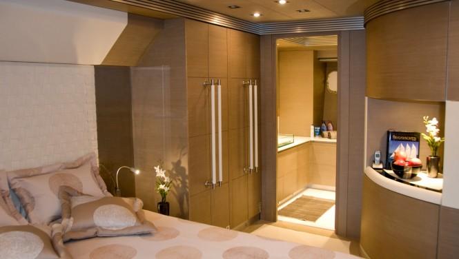 M/Y RL NOOR - VIP stateroom. Image credit Bilgin Yachts
