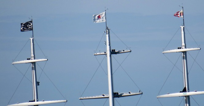 Masts of Black Pearl. Photo Credit Dutch Yachting