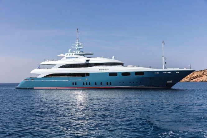 Mega yacht O'NEIRO - Built by Lamda Shipyards
