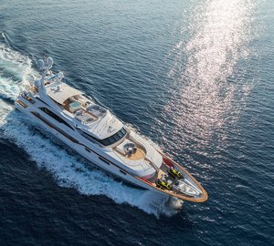 Charter recently refitted Motor yacht Air in the Mediterranean