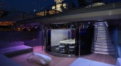 Motor yacht SEA FORCE ONE - Upper deck, dining and skylounge. Photo credit Luca Dini Design