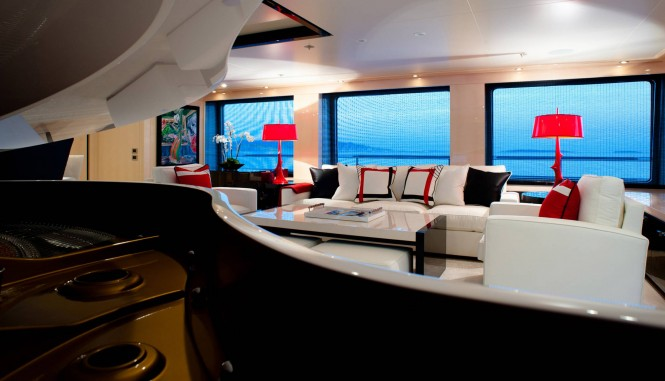 Motor yacht STEP ONE - Skylounge. Photo credit Amels