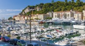 NICE, FRANCE - OCTOBER 2, 2014: Port of Nice is one of the main