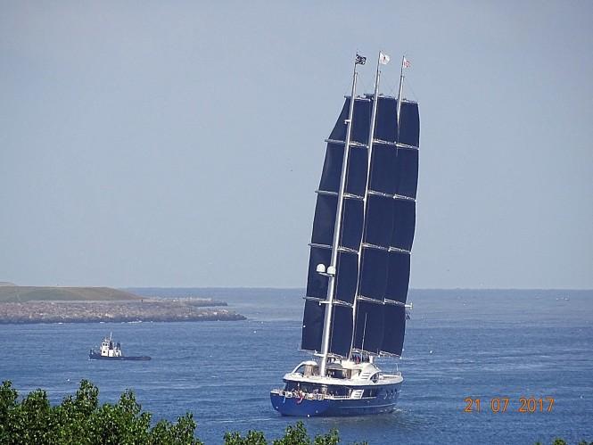 Oceanco Black Pearl. Photo credit Marcus Slabbers via Dutch Yachting