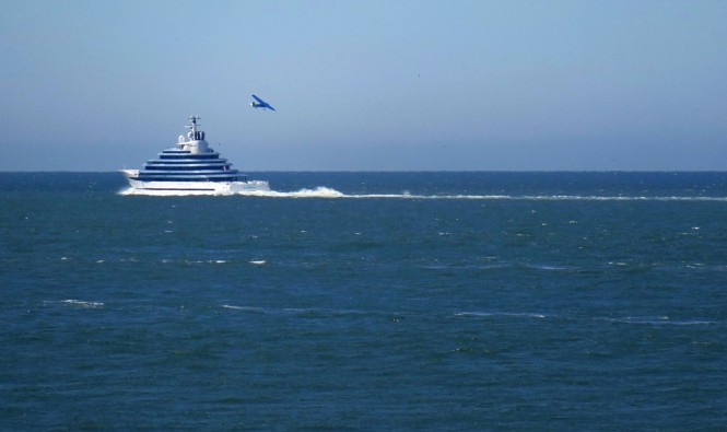 Oceanco mega yacht Jubilee. Photo credit Dutch Yachting