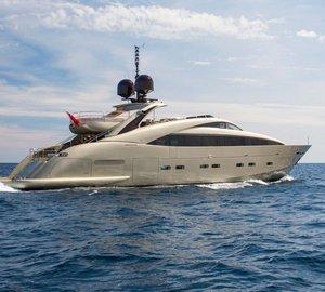 Charter luxury yacht Midnight Sun in the Mediterranean