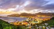 Philipsburg, Sint Maarten, Dutch Antilles cityscape at the Great