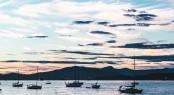 Sunset At Kitsilano Beach In Vancouver, Canada
