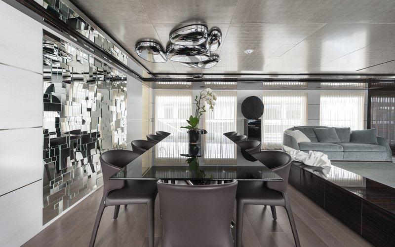 Superyacht entourage formal dining area yacht charter for Formal dining area