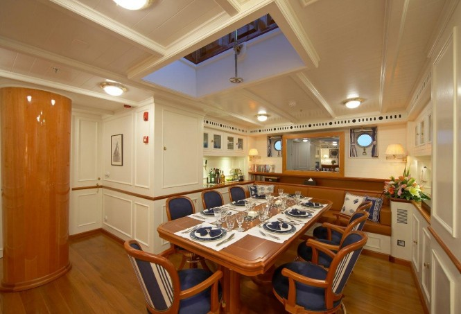 Superyacht GERMANIA NOVA - Formal dining area