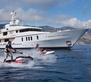 Charter superyacht Hanikon in the Mediterranean this July