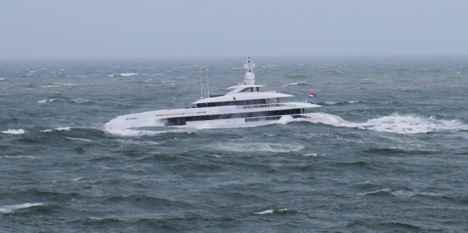 Superyacht Home in the North Sea - running. Photo: © Dutch Yachting