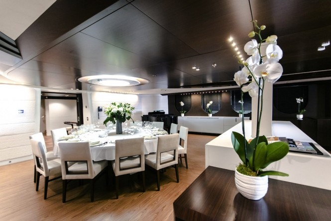 Superyacht KATINA - Formal dining area