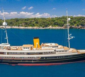 Charter 90m superyacht Nero in the Mediterranean