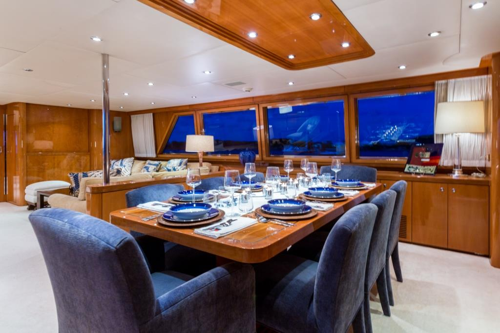 Special offer 8 nights for 7 aboard charter yacht no for Formal dining area
