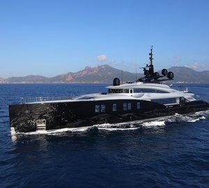 Charter mega yacht Okto in the Mediterranean