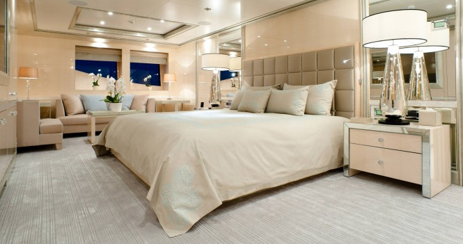 Superyacht STEP ONE - Master suite. Photo credit Amels
