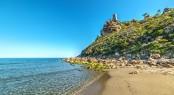 Torre Salinas beach in Sardinia in Italy